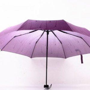 rain drip dripping beads print three folding fashion umbrellas