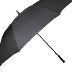 Personalised Large Black Windproof Golf Umbrella