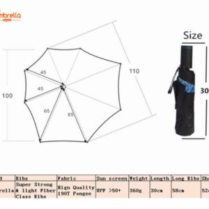 Creative Irregular Folding LED Umbrella