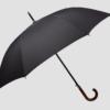 black umbrella wooden handle