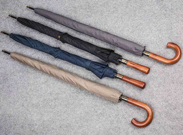 umbrella with wooden handle