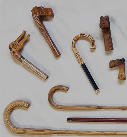 Wooden umbrella handles